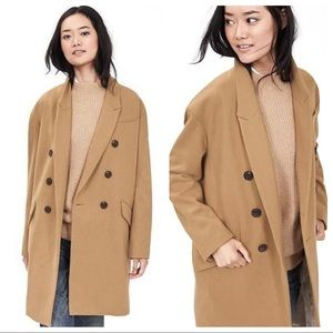 Banana Republic Double Breasted Camel Wool Coat